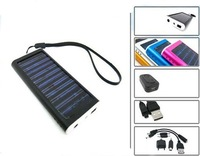 2012 Hot Sell! Wholesale New Portable Solar charger for Cell Phone MP3 MP4 PDA -- free shipping