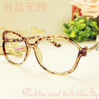 2014 Fashion Gentlewomen Elegant Hello Kitty Bow Big Glasses Optical Frame Material a23
