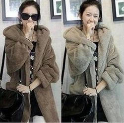 Casual Cozy women ladies clothes Coat Jackets blazer suit Outwear Hooded wool Winter coat,new fashion women's fur coats(China (Mainland))