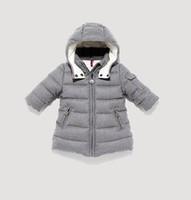2012 winter children's clothing down coat baby male female child medium-long woolen thickening