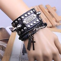 Free Shipping 2012 Hot Selling 2012 punk women's male rivet spike leather bracelet Bracelets for men