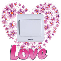 Deezu love three generations of romantic switch stickers fashion outlet decoration wall stickers