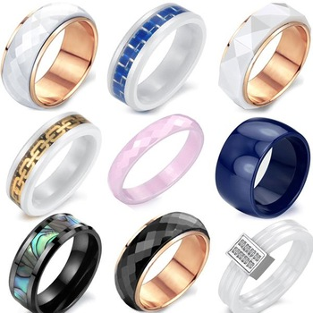 OPK JEWELRY CERAMIC FINGER RING TOP QUALITY BAND CERAM RINGS  5pcs/lot for mix order free shipping