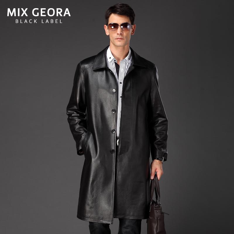 Long Leather Jacket Mens - Jacket