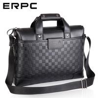 Cowhide man bag male shoulder bag men's business casual handbag briefcase laptop bag male