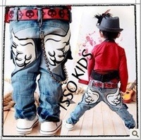 ISSOKIDS children jeans wings jeans trousers children's clothing wholesale