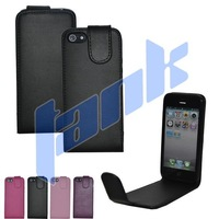 50pcs /Lot High Quality Flip Leather Case for iphone 5 5G  Free shipping
