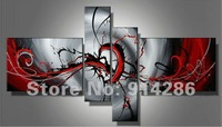 100%Hand painted oil paintings on canvas red black white home decoration Modern abstract Oil Painting wall art /Free shipping