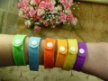 Free shipping 150pcs/lot Summer Mosquito Bracelet  Repellent Band Camping Killer Bangle Wristband(China (Mainland))