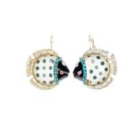 Fashion small accessories bj marine fish earrings