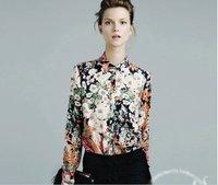 ladies' fashion blouse autumn spring long sleeve chiffon top european american bow tie blouse for women dropship