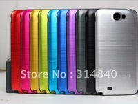 Color Metal Back Battery Door Case Cover for Samsung Galaxy Note II 2 GT- N7100+Free Shipping