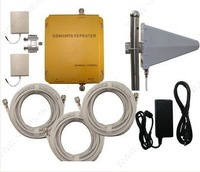 GSM/UMTS 900mhz/2100mhz dual band cell phone signal booster 3G moble phone signal repeater with patch panel antennas