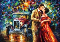 Famous 1925-Leonid Afremov reproductions hand made palette knife landscape painting oil on canvas for home deco