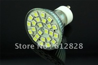 Wholesale 30pcs/lot High quality 450LM Warm White or Cool White 4.5-5W 180 degree LED Bulb GU10 24 5050 SMD light