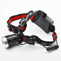 Free shipping XM-L T6 led headlight glare charge lamp 18650 diaoyu lamp hunting lights outdoor 5w