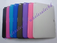 100pcs/lot Anti-slip Matte Soft TPU Skin Case Cover for Samsung Galaxy Note 10.1 N8000 free shipping