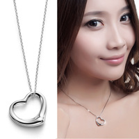 Brief fashion tf cutout 925 pure silver pendants female pendant silver jewelry 40222
