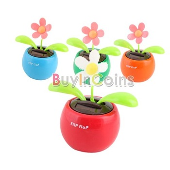 Solar Powered Flip Flap Flower Cool Car Dancing Toy  [5461|01|01]