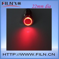 22mm dia 6V red led light momentary metal push button switch fast delivery