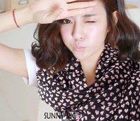 Free Shipping !2014 NEW Style, Sweet  Cute Heart  Scarf  Long Chiffon Scarf  Women's Korean Version Silk Scarf,S-013