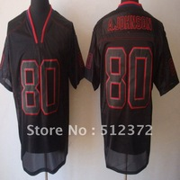 Free Shipping to all country!!! #80 Andre Johnson MEN'S Lights Out Black JERSEY (all name number stitched)