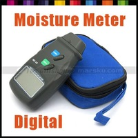 LCD Digital Electronic Wood Woodworking Timber Firewood Veneer 2-Pins Moisture Meter Measurer Measurement  free shipping