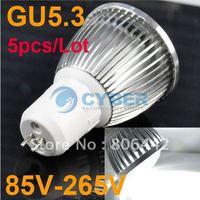 5pcs/Lot New 5W GU5.3 High Power COB LED Spotlight Lamp Bulb White 85V-265V Free Shipping