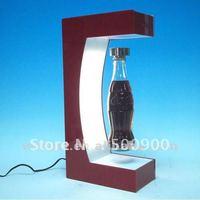 W7025 Hot sale pop display, spinning display for bottles, magnetic floating rotating pop display