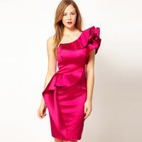 cocktail Dresses Red Apricot v neck Fashion dress brand dropship