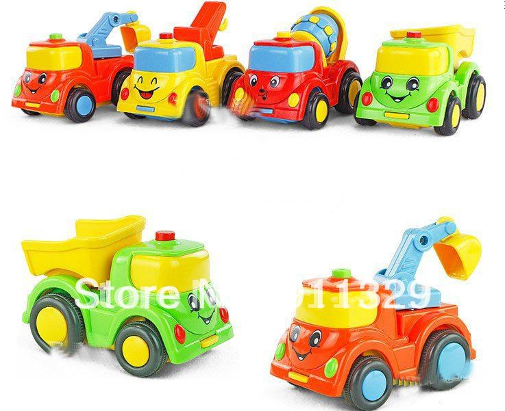 Best selling!! Inertia car colorful construction vehicles plastic toys for children Free shipping,5 pcs/lot(China (Mainland))