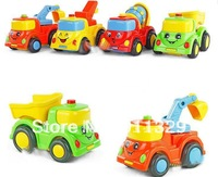 Best selling!! Inertia car colorful construction vehicles plastic toys for children Free shipping,5 pcs/lot