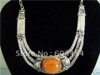 Handmade Tibet Silver Jewellery Necklace pendant / Free Shiping