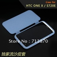 100% Quality Guarantee Ultrathin Slim Silicon Rubber Soft Case for HTC one X S720e,Flip Case Quicksand Cover for HTC one X