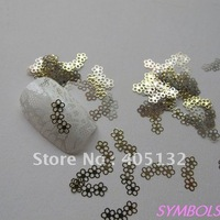 MS-137-2 Free Shipping Metal Gold Three-flower Nail Art Metal Sticker Nail Art Decoration Fancy Outlooking
