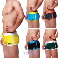 5pcs/lot New Men's Boxer Swimming Trunks w/Front Tie Pants Swimwear Desmllt Pattern SL00189 For Freeshipping