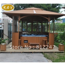outdoor spa house hot tub outdoor wooden gazebos(China (Mainland))