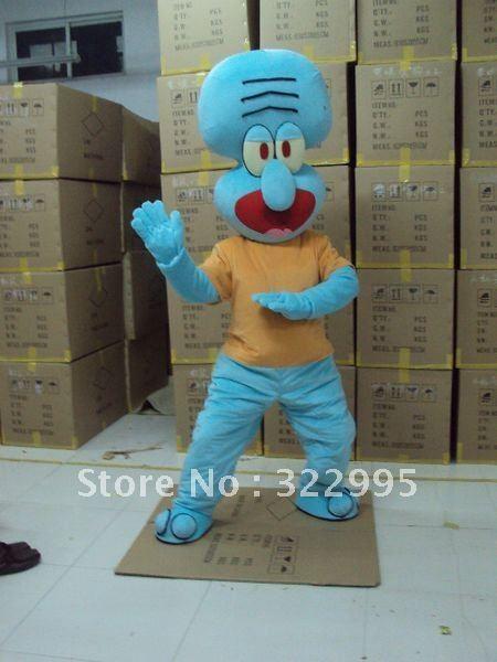 Adult Size Squidward Tentacles Mascot Costumes SpongeBob SquarePants ...