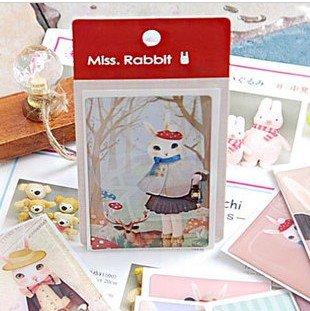 UMI South Korea imported stationery cute cartoon waterproof bus card stick rice card stick decorative crystal card stick(China (Mainland))