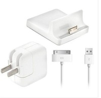Power Bundle for iPad with Dock, 10W Charger and Charge/Sync Cable for iphone