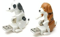 Novelty USB USB Powered Humping Dog Stress Reliving Toy(Brown/white)
