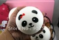 new novelty items 4kinds jumbo 10cm cute kawaii  panda shape squisy buns with smell ,PU,mix kinds ,happy gift ,freeshipping