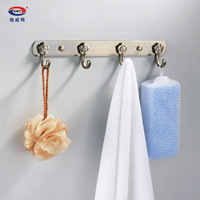 Gweat archaists stainless steel solid clothes hook row hook thickening broadened crystal