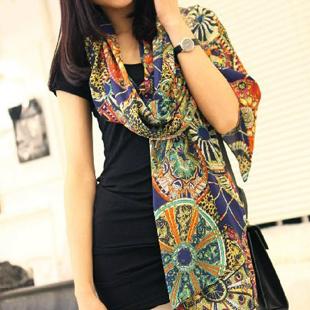 2012 summer chiffon silk wheel silk scarf sunscreen shawl air conditioning cape scarf fashion accounting