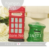 free shipping,Green pillar-box piggy bank,Ceramic coin bank,photography grop