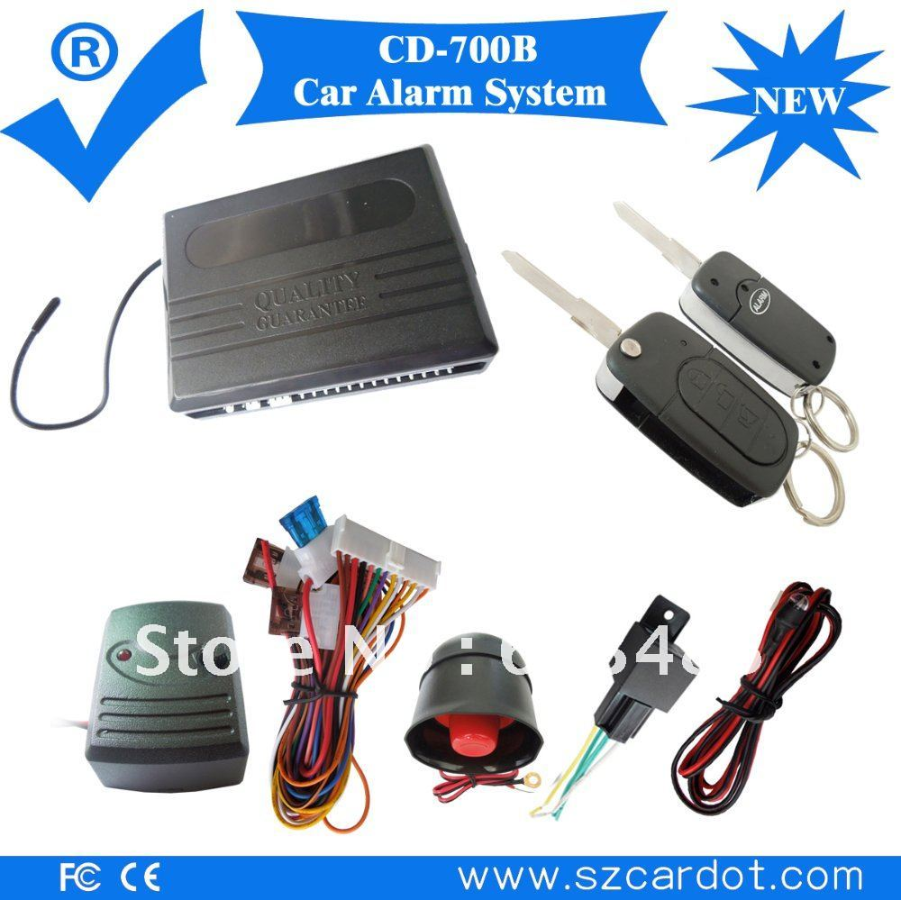 Latest wireless car alarm,+/- side door option,+/- trunk release output option ,window rolling up ,2 pcs benz flip key remotes!(China (Mainland))