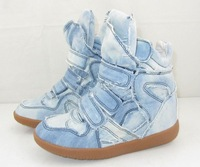 FREE SHIPPING WOMEN'S ISABEL MARANT  WEDGE SNEAKER CASUAL SHOES Cowboy shoes