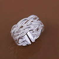 Min order $15(MIX)  FS-1 Fashion Jewelry 925 Silver Plate Ring R023