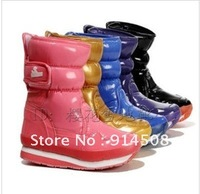 free  shipping rubberr  Snow boots duck  female boots barrel buckle snowshoes waterproof non-slip