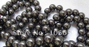 Wholesale - DIY bracelet necklace ring 100PCS* Hematite tungsten steel stone Tiedan stone beads 10MM
